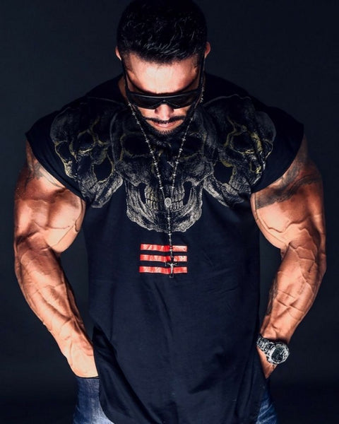 fashion Short sleeve T-shirt Brand clothing Crossfit Shirts Male Casual Tee Tops  Skinny Elasticity