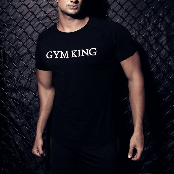 Short sleeve T-shirt men Fitness shirt GYMS Brand clothing cotton Fit Breathable TOP Tees