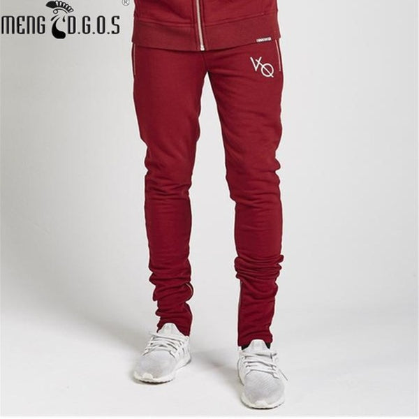 fashion men casual brand pants leggings, zipper pants