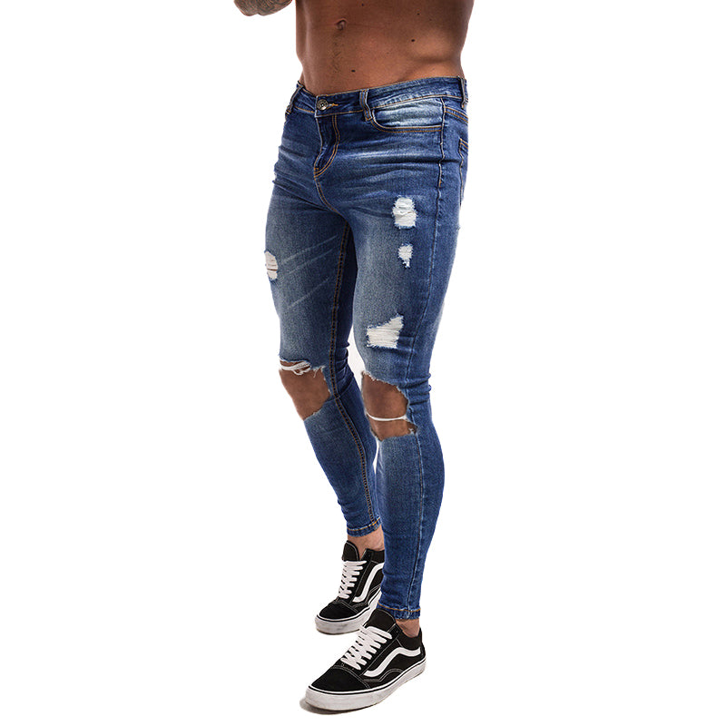 Men's Skinny Jeans Super Spray on Skinny Tight Pant Cotton Spandex Clearance