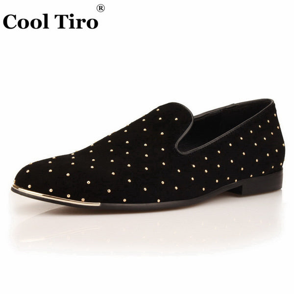 Loafers Men Moccasins handsome Smoking Slippers Flats Wedding Black Suede Men's Dress Shoes Casual