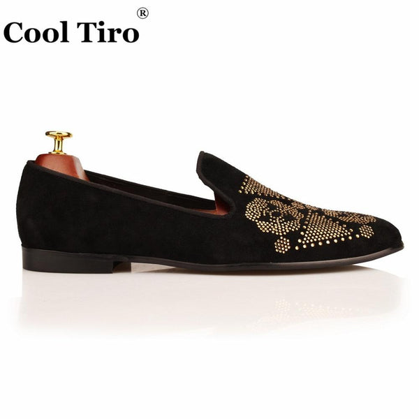 Men Loafers Suede Moccasins Smoking Slippers Dress Shoes Men's Flats Genuine Leather Casual shoes