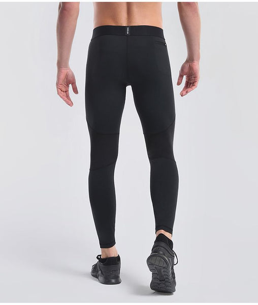 Running Pants Men Compression Elastic Basketball Tights Gym Fitness Training Pants Reflective Skinny Running Leggings Pants