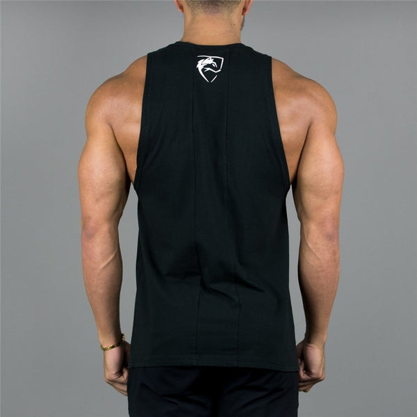 Mens Tank Top Gyms Fitness bodybuilding Workout Crossfit Brand Clothing Cotton Sleeveless Shirt Jogger Print Slin