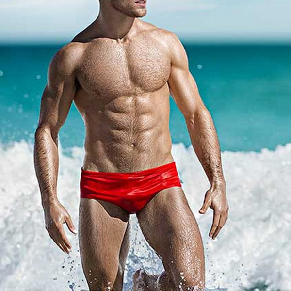 sexy Men's Swimming Swim Trunks Low Waist Briefs Swimwear Boxers Summer Swimsuits Beach Boards Surfing Wear