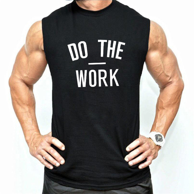 New Brand mens sleeveless shirts Do The Work Summer Cotton Men Tank Tops gyms Clothing Bodybuilding shirt Golds Fitness tops