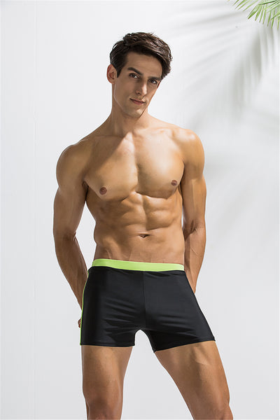 Swimming Trunks Men Swimwear Swimsuit Plus Size Gay Spandex Swim Shorts Boxer Briefs Pants Bathing Suit Boardshorts Sexy