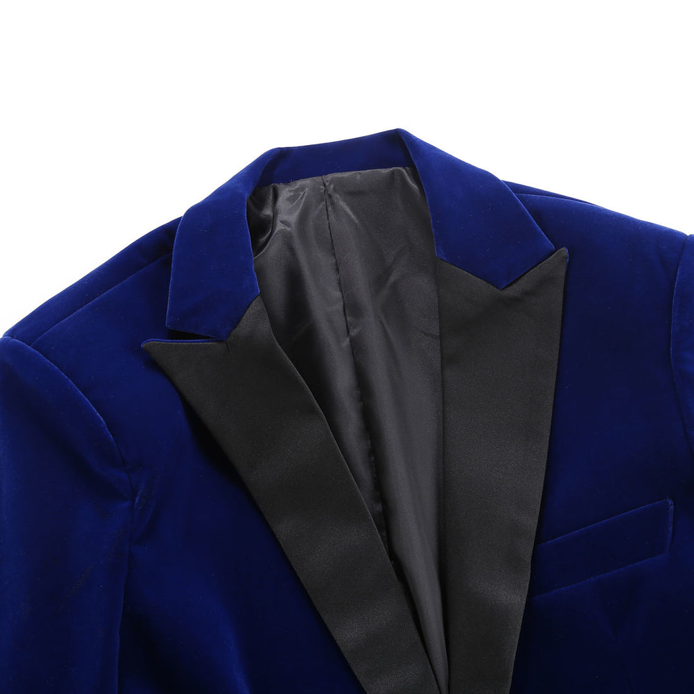 Men's Autumn Winter Velvet Wine Red Fashion Leisure Suit Jacket Wedding Groom Singer Slim Fit Blazer Hombre Masculino