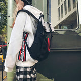 Nylon Women Bookbags Harajuku Large Capacity School Bags Teenager Travel Bag College Student Mochila Bolsa Shoulder Bag Computer