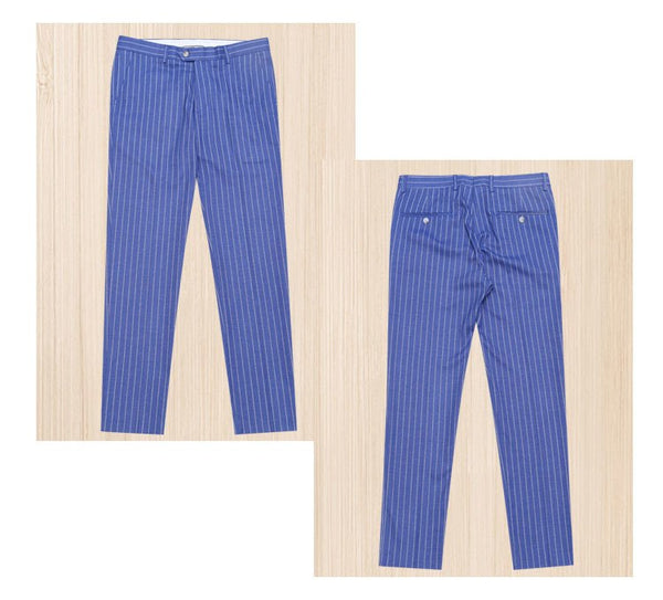 mens suits with pants double breasted new arrivals slim fit men suit summer groom wear blue stripe blazer pant 3xl plus