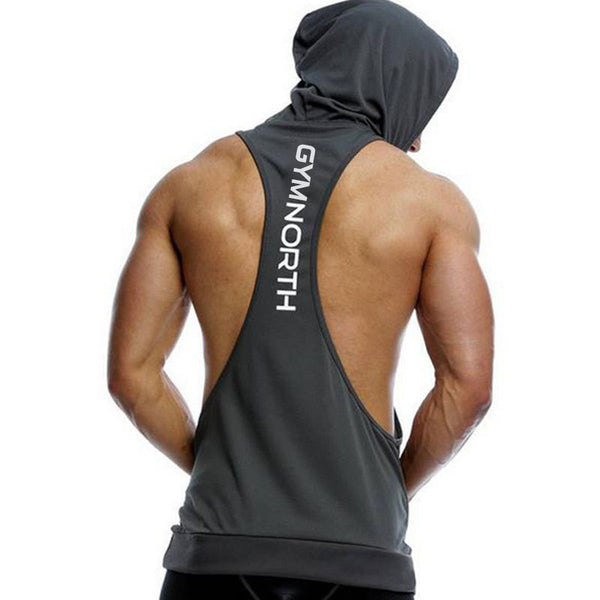 Summer Newest Brand Mens Print Gyms Stringers Vest Bodybuilding Clothing Fitness Man Hooded Tanks Tops