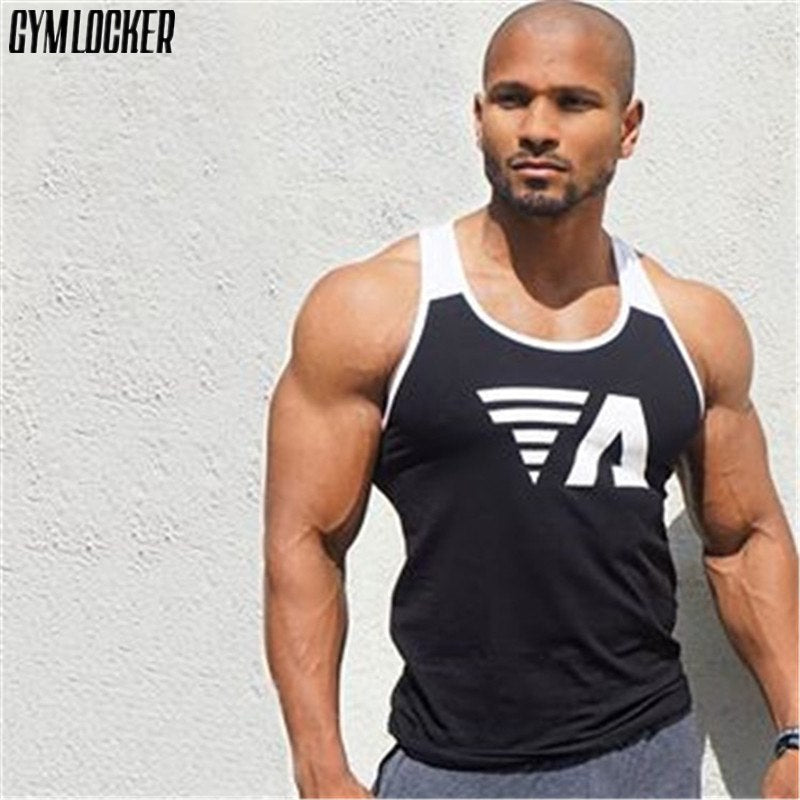 d7bdcd4a447bf 2018 New Bodybuilding Tank top mens sleeveless Splice shirt Gyms Fitness  Casual GYMS slim fit printing ...