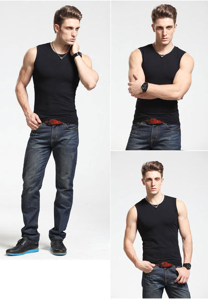 Men Body Compression Base Layer Sleeveless Summer Vest Thermal Boy Fitness Tights Under Top Tees Tank Tops