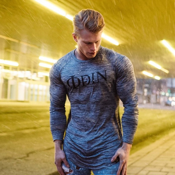Fashion Casual Slim Elastic Soft Solid Long Sleeve Men T Shirts Male Fit Tops Tee