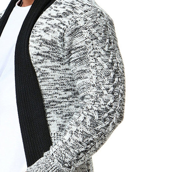 Men's knitted sweartercoat jacket thermal warm casual home Autumn Winter male cardigan thicken sweater long sleeve top
