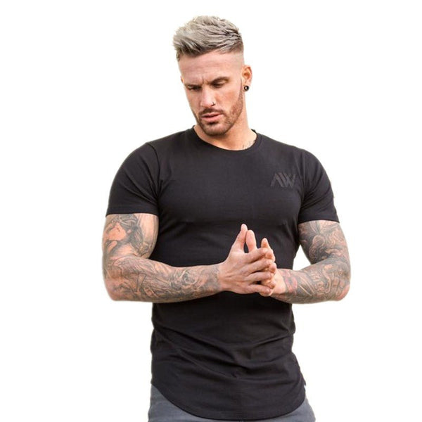short sleeve solid t shirt men,cotton O-collar clothing  fly black fashion casual men t-shirts