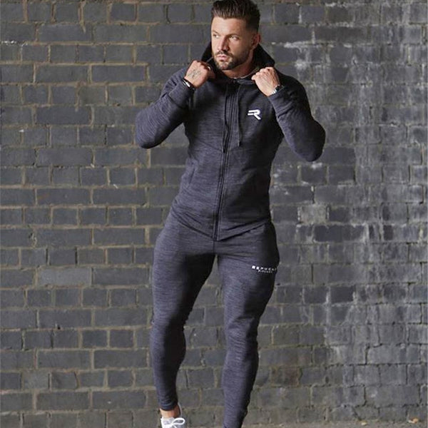 Hoodies Sport Suit Running Men Clothing Set Gym Sport wear Tracksuit Fitness Body building Men Hoodies+Pants Suit Jogger Men Set