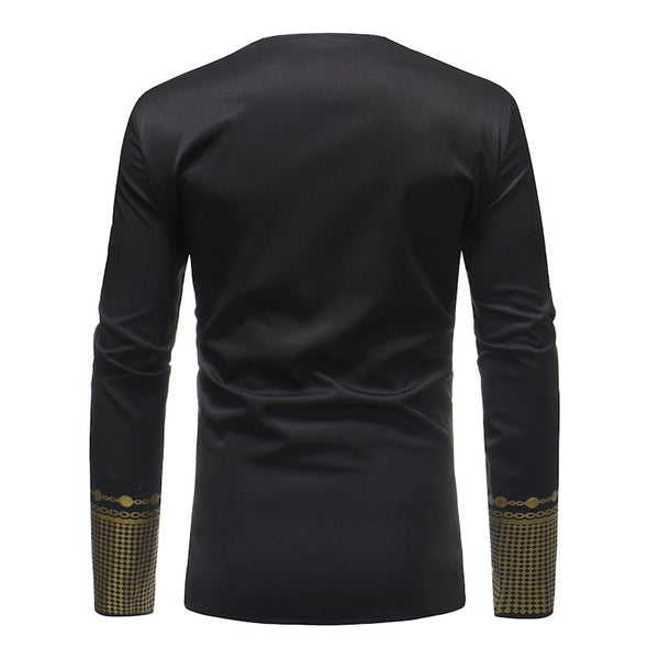 African Tee Shirt Homme Brand New African Dashiki Dress Shirt Men Tribal Ethnic Print T Shirt Traditional African Clothing