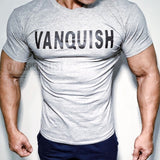 New men t-shirt Gyms Fitness Bodybuilding Slim Shirts Crossfit Short sleeve Cotton clothes Fashion Casual O-Neck printed Tees