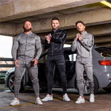 Sport Suit Men Set Running Gym Sportswear Tracksuits Fitness Body building Men  Hoodies+Pants Sport Outwear Clothing Suit Male