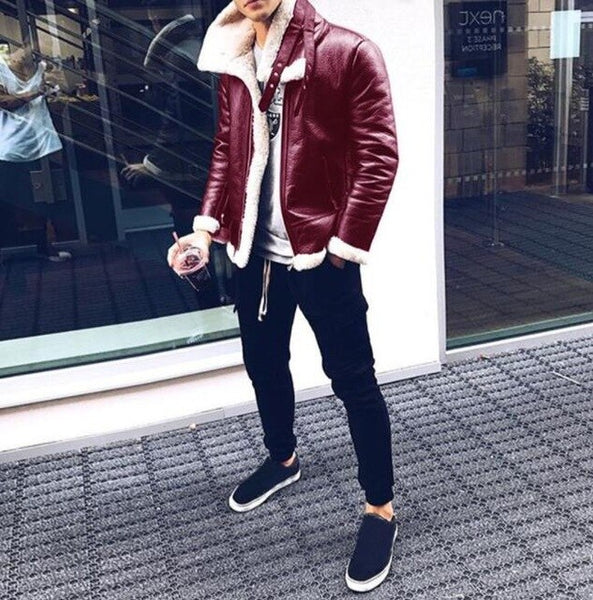 Fashion Men Jackets Coat Stand Collar Coats Jacket Men Outerwear