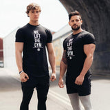 Brand Summer Mens Sportwear T Shirt Crossfit Tshirt Gyms Bodybuilding Muscle Male Short T-Shirt Cotton Tee Tops Fitness Clothing