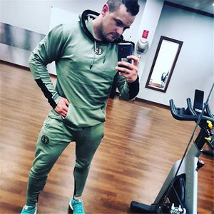 Mens Tops And Pants Sets Casual Fashion Sportswear Hoodies Sweatshirt+Sweatpants 2pcs/Set Male Fitness Joggers Brand Tracksuits