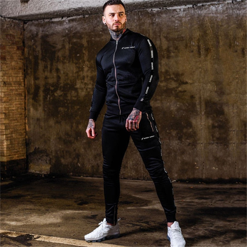 Men Sets Men's Sweatshirt+pants 2PC Suit Jogger Stretch Trousers Sweatshirt Male Fashion Clothing Men's set