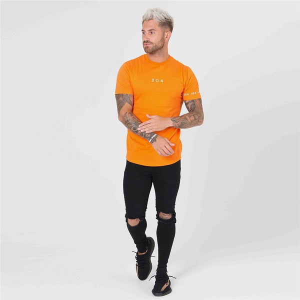 New Brand clothing Gyms Tight t-shirt mens fitness t-shirt homme Gyms t shirt men fitness Summer top