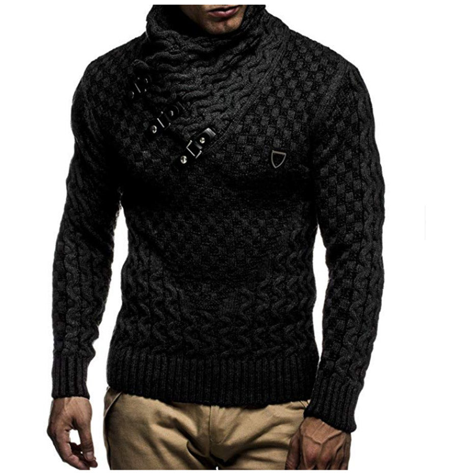 Men Sweaters Brand New Warm Pullover Sweaters Man Casual Knitwear Winter Men Black Sweatwer XXXL Computer Knitted