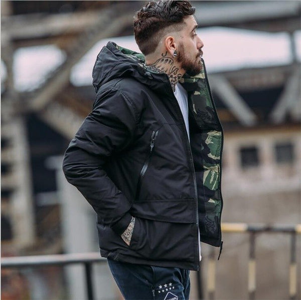 Winter Jacket Men Thick Camouflage Parkas Hood Men Windbreaker Zipper Windproof Bomber Jacket Male Coat