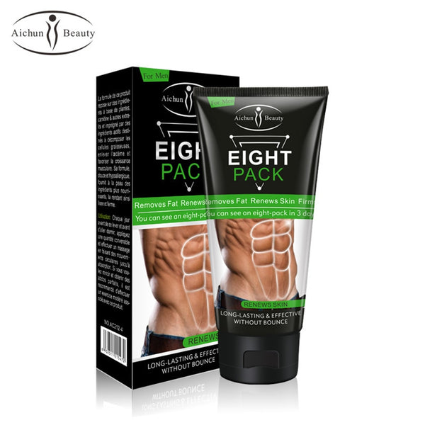 2pcs/set Aichun Beauty Eight Pack Cream 170g Plus Anti Cellulite Fat Burning Oil 30ml for Reducing Abdomen Weight Loss Products