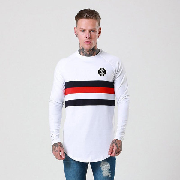 Hip Hop T shirt Men Slim Fit Mens Long Sleeve T-Shirt Casual O-neck Tshirt Brand Streetwear Tops & Tees