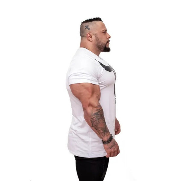 Clothing Gyms t-shirt Mens Fitness Tight t-shirt Cotton crossfit t shirt men Bodybuilding Summer top Blank tshirt