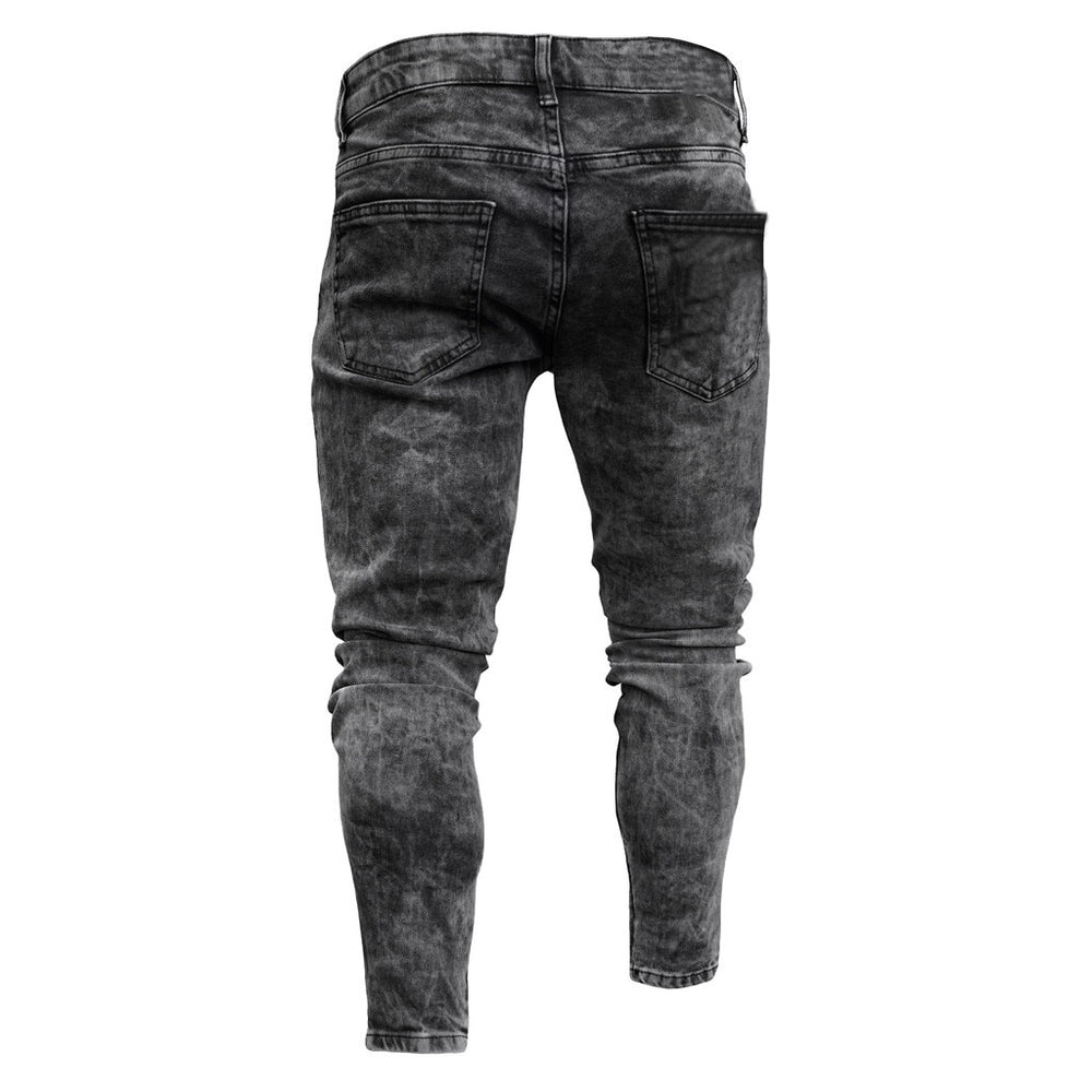 FeiTong Jeans Men Top Brand Men Clothes 2019 Skinny Stretch Denim Pants Distressed Ripped Freyed Slim Fit Jeans Trousers Of Male
