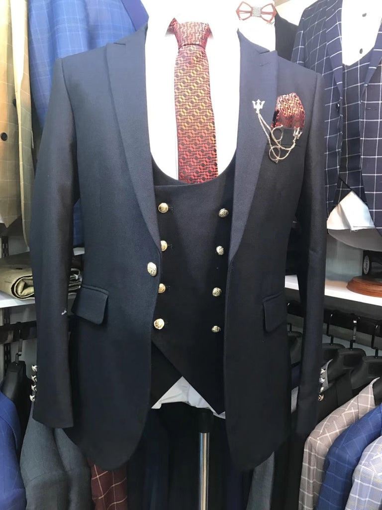 New Real picture Men Wedding Suits Slim Fit 3 Pieces Tuxedo