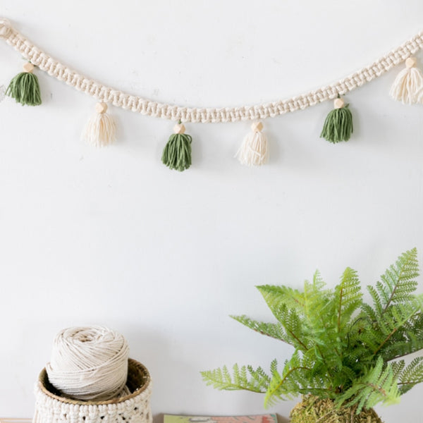 Hand-woven Wall Lanyard Macrame Decorative Tapestry Hanging Literary Wall Home Decoration Accessories