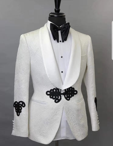 Men Wedding Suits Slim Fit 3 Pieces Tuxedo Groom Groomsman master of ceremonies Host stage jacket pant vest Singer costume