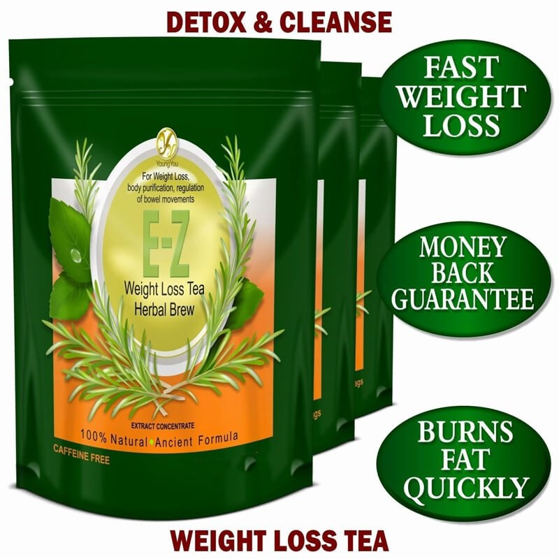 100% Pure Natural DETOX TEA Bags FOR WEIGHT LOSS And Belly Fat Appetite Control Body Cleanse Keep Health