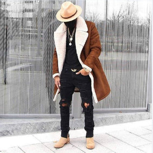 Fashion Winter New Jacket Men Warm Coat Fashion Casual Parka Medium-Long Thickening Coat Men for Winter Men Wool Coat