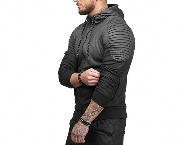 Sports Training Bodybuilding Men's Hoodie Gym Fitness Running Sweatshirts Men's Hooded Shirts Sweat Shirts Sportswear