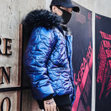 Men Winter Thicken Warm Loose Casual Cotton Padded Coat Male Fashion Hip Hop Streetwear Hooded Parkas Jacket Overcoat