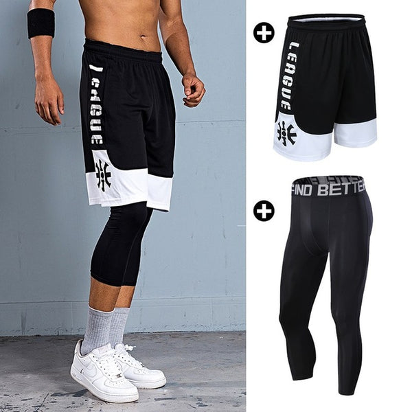 Basketball Shorts for Men Outdoor Sports Fitness Short Pants Quick-dry Breathable Running Training Loose Shorts Zip Pocket 6XL