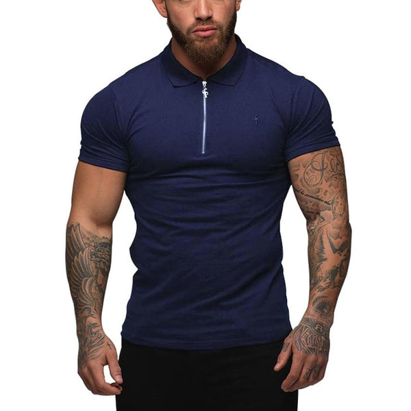 Brand Clothing New Men Polo Shirts Men Business Casual Solid Male Polo Shirt Short Sleeve Breathable Polo Shirts