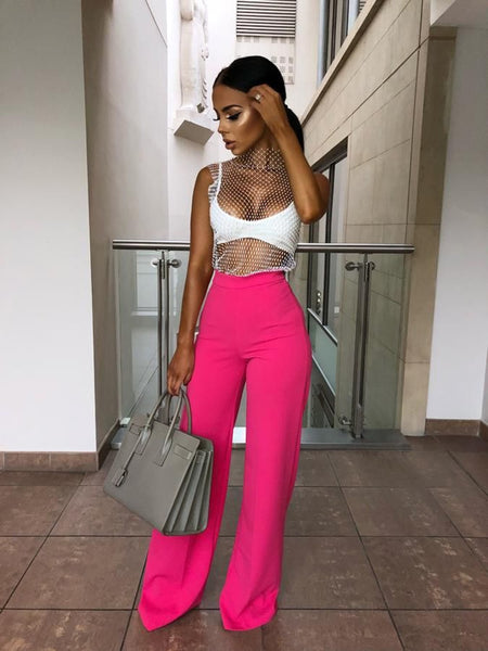 Women loose long high waist wide leg pants for women female lady long pants women's spring new S M L XL