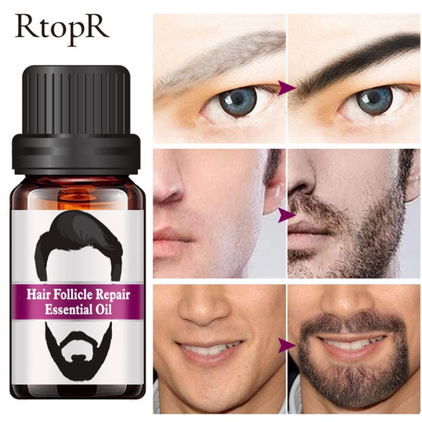 Hair Follicle Repair Oil Men Styling Moustache Oil Hair Growth Of Beard Body Hair Eyebrow Care Moisturizing Smoothing 10ml