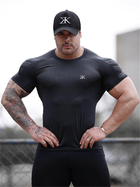 Men Casual Fashion Black Print T-shirt Gyms Fitness Bodybuilding Workout Cotton t shirt 2019 New Male Tee Tops Crossfit Clothing