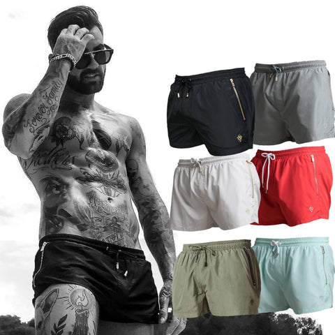 Men Gyms Fitness Bodybuilding Shorts Mens Summer Casual Cool Short Pants Male Jogger Workout Beach Breechcloth Bottoms