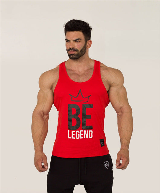 Mens Fitness bodybuilding Tank Tops Crossfit cotton Slim fit sleeveless Shirts fashion Casual Undershirt printing vest tees