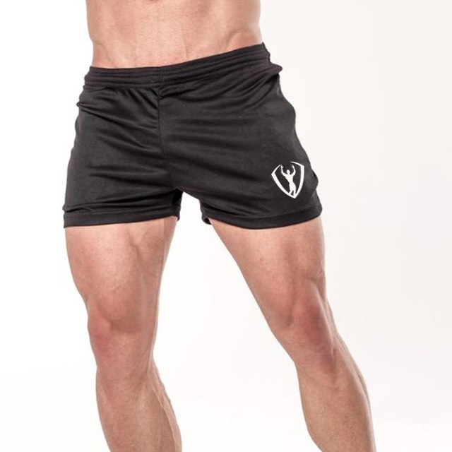 Mens shorts Calf-Length gyms Fitness Bodybuilding Joggers Summer Quick-dry Cool Short Pants Male Casual Beach Brand Sweatpants